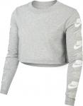 Triko s dlouhým rukávem Nike W NSW TEE LS FUTURA FLIP CROP