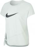Triko Nike W NK DRY SIDE TIE SS TOP GRX
