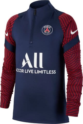 Y NK PSG STRIKE DRY 1/4 ZIP LS TOP