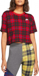 W NSW TEE FUTURA PLAID CROP
