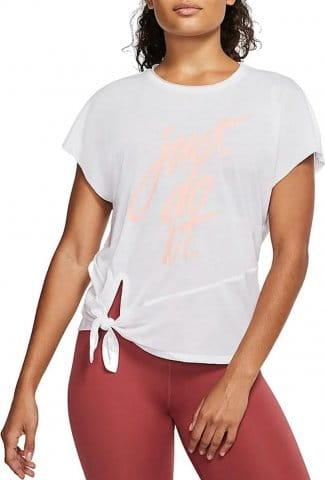 Tee-shirt Nike W NK DRY SIDE TIE SS TP GRX