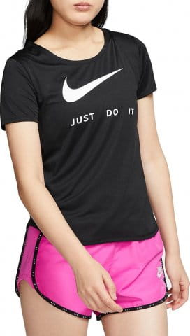 Tee-shirt Nike W NK TOP SS SWSH RUN
