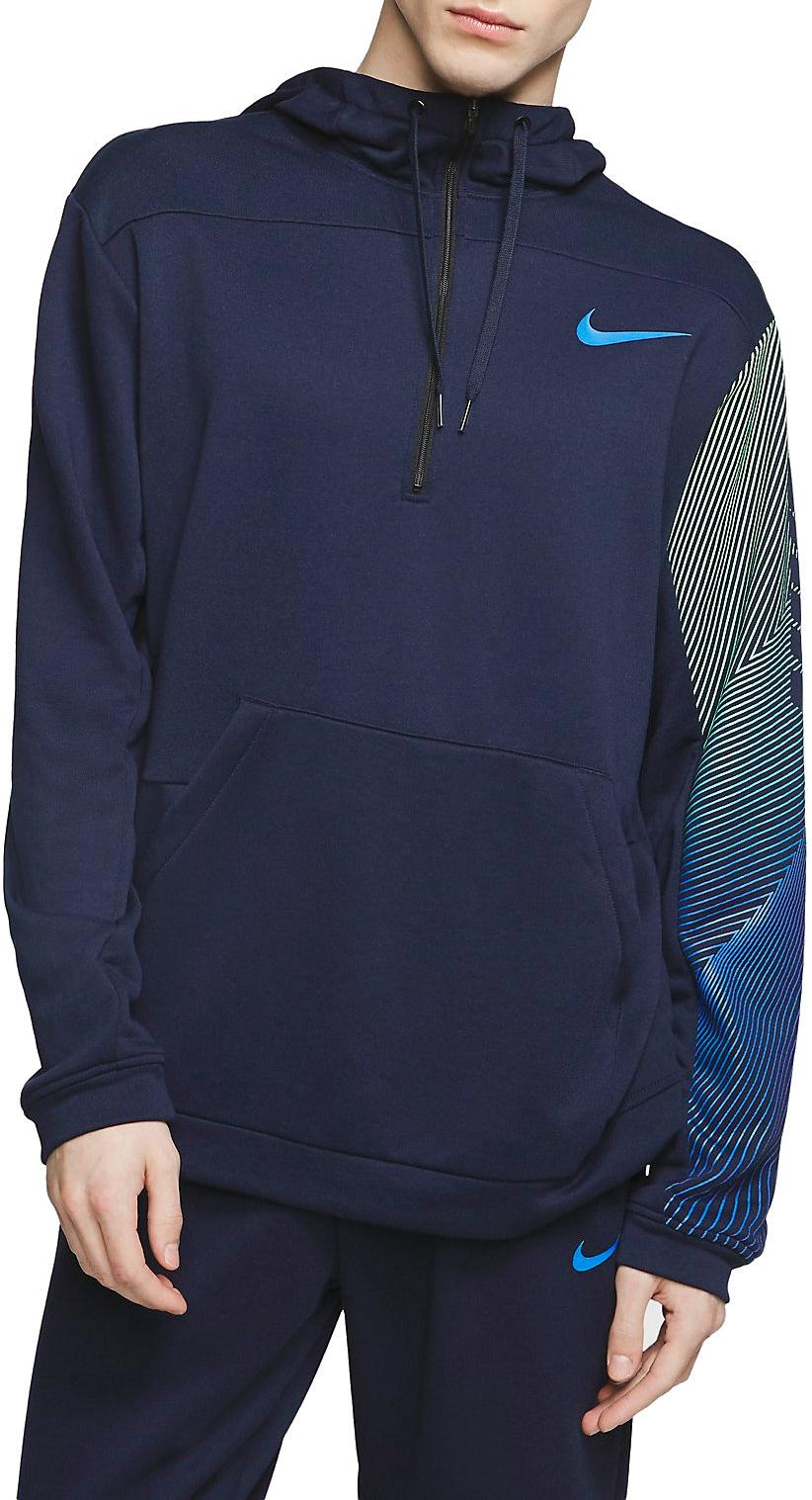 Hooded sweatshirt Nike M NK DRI FIT PULLOVER FLEECE TRAINING HOODIE