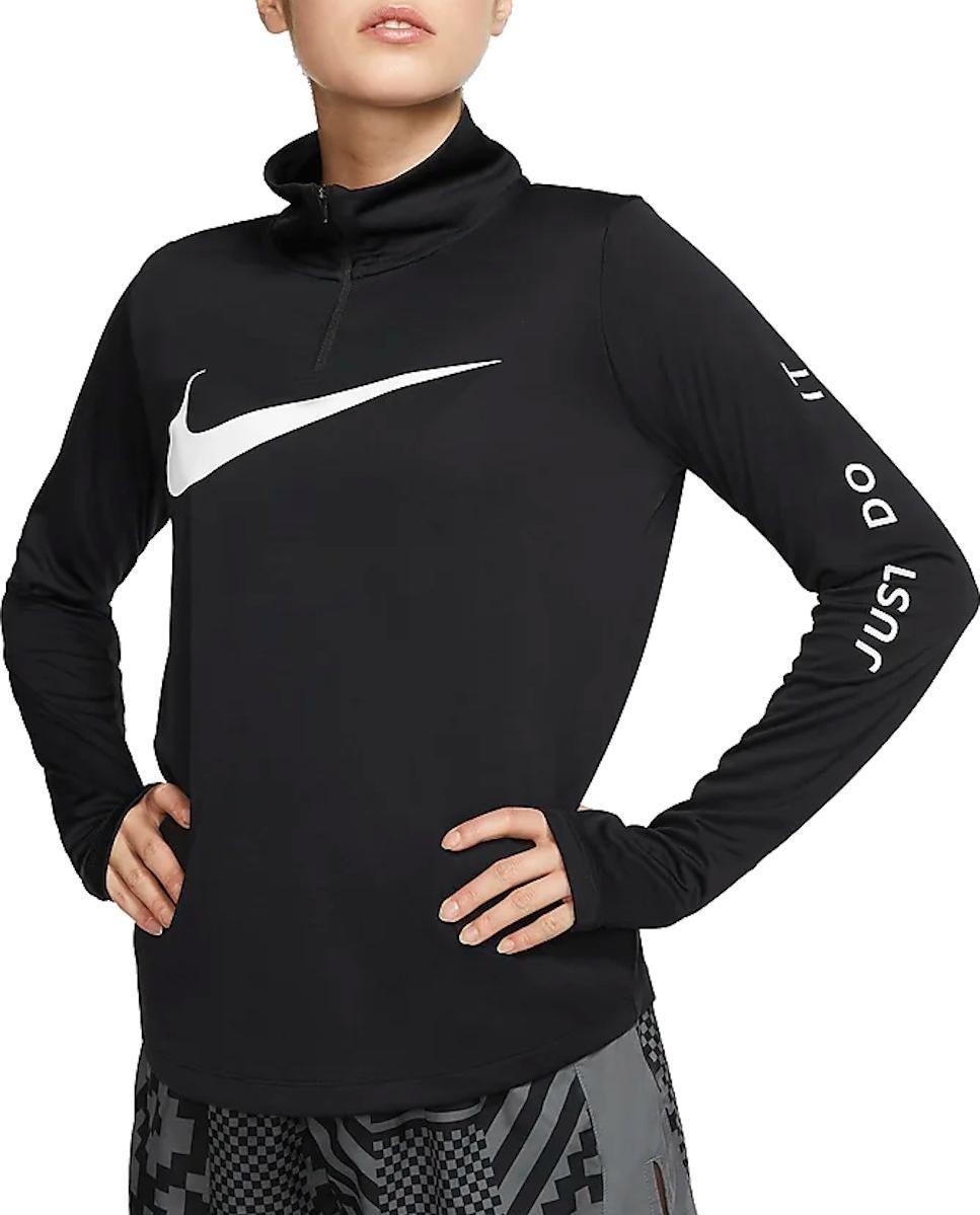 T Shirt Manches Longues Femme Nike Midlayer QZ Swsh Run