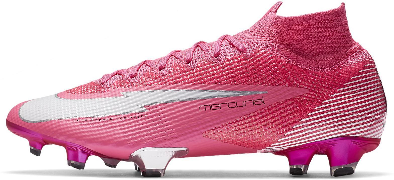 Football shoes Nike SUPERFLY 7 ELITE SE MBAPPE ROSA FG