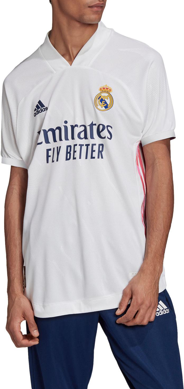 Shirt adidas REAL MADRID HOME JERSEY AUTHENTIC 2020/21 ...