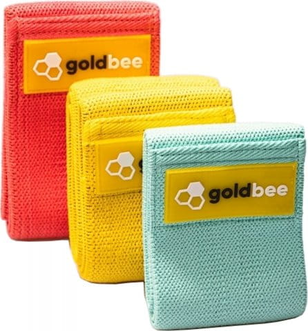 Guma za jačanje GoldBee GoldBee Textile Resistance Band Set 3P