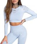 Kalhoty Gym Glamour Crop Top Dream Blue