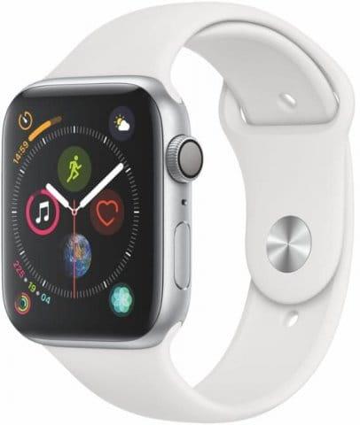 Apple Apple Watch Series 4 GPS, 44mm Silver Aluminium Case with White Sport Band Karórák