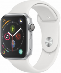 Hodinky Apple Apple Watch Series 4 GPS, 44mm Silver Aluminium Case with White Sport Band