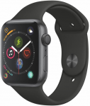 Ceas Apple Apple Watch Series 4 GPS, 44mm Space Grey Aluminium Case with Black Sport Band