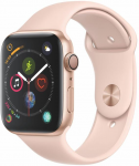 Watch Apple Apple Watch Series 4 GPS, 44mm Gold Aluminium Case with Pink Sand Sport Band