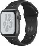 Apple Watch + Series 4 GPS, 40mm Space Grey Aluminium Case with Anthracite/Black Sport Band