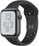 Apple Watch + Series 4 GPS, 44mm Space Grey Aluminium Case with Anthracite/Black Sport Band