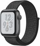 Hodinky Apple Apple Watch + Series 4 GPS, 40mm Space Grey Aluminium Case with Black Sport Loop