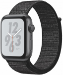 Apple Watch + Series 4 GPS, 44mm Space Grey Aluminium Case with Black Sport Loop