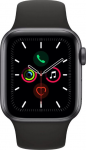 Apple Watch Series 5GPS, 40mm Space Grey Aluminium Case with Black Sport Band