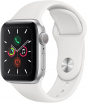 Apple Apple Watch Series 5 GPS, 44mm Silver Aluminium Case with White Sport Band Karórák