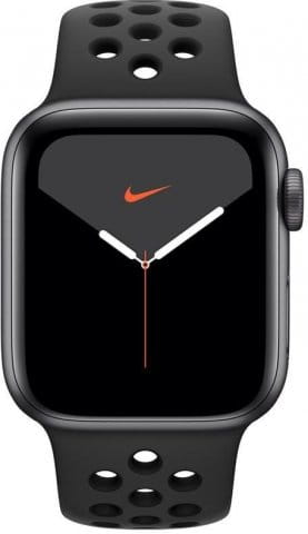Apple Watch Series 5 GPS, 40mm Space Grey Aluminium Case with Anthracite/Black Sport Band