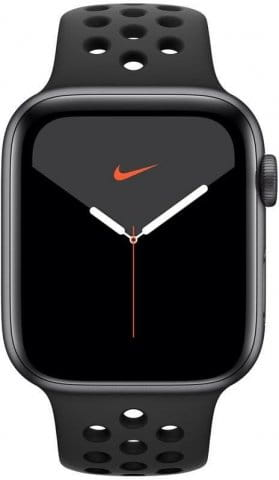 Apple Watch Series 5 GPS, 44mm Space Grey Aluminium Case with Anthracite/Black Sport Band