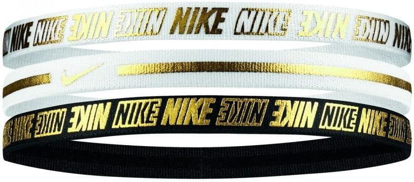 Bandeau Nike METALLIC HEADBANDS 3PK 2.0