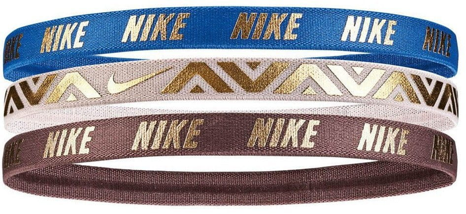Cinta para la cabeza Nike METALLIC HAIRBANDS 3 PACK